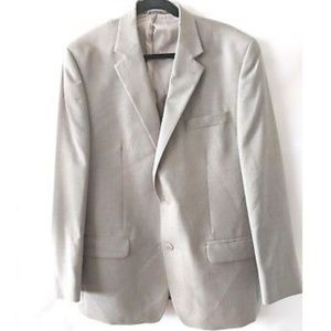 Michael Kors Men Blazer 44R Beige 2 Buttons Jacket